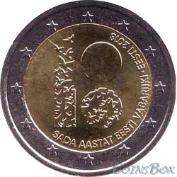 Estonia 2 euros 2018 100 years of the Republic of Estonia