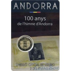 Andorra 2 euro 2017 100 years old anthem of Andorra