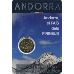Andorra 2 euro 2017 Country in the Pyrenees.
