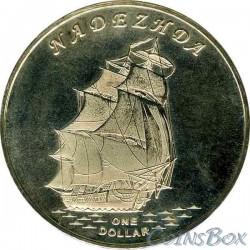 Gilbert Islands 1 dollar 2015 The ship Nadezhda