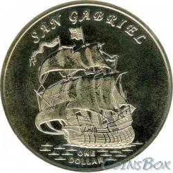 Острова Гилберта 1 доллар 2015 Корабль Сан Габриел