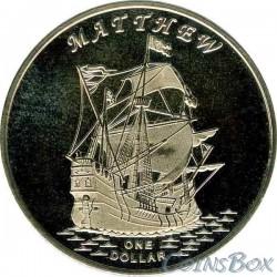 Острова Гилберта 1 доллар 2015 Корабль Мэтью