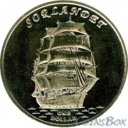 Gilbert Islands 1 dollar 2017 The ship Sorlandet