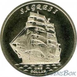 Острова Гилберта 1 доллар 2017 Корабль Сагреш