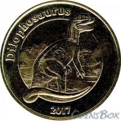 Остров Майотта 1 франк Дилофозавр 2017