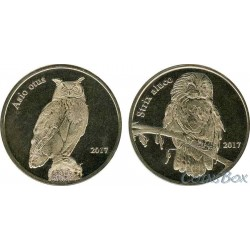 Shetland Islands Owls 2017 1 pound. set 2 pieces