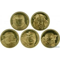 Somaliland 5 shillings 2017 Monkey set 5 pieces