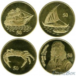Christmas Island 2016 50 cents set 4 pieces