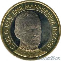 Finland 5 Euro 2017. Carl Gustav Emil Mannerheim