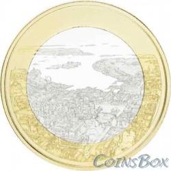 Finland 5 euro 2018. Helsinki Seascape