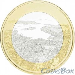 Финляндия 5 евро 2018. Хельсинкский морской пейзаж