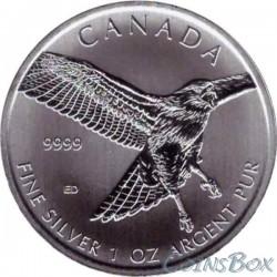 Канада 5 долларов 2015 Ястреб