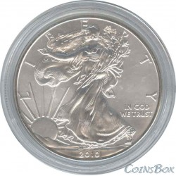 1 USA Dollar 2010 Walking freedom. Eagle.