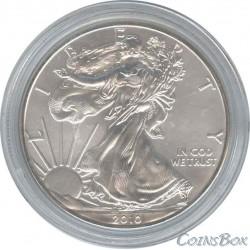США 1 доллар 2010 Шагающая свобода. Орел.