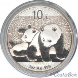 10 юаней 2010. Панда. Серебро