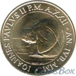 Ватикан 50 лир 2000 год Иоанн Павел II