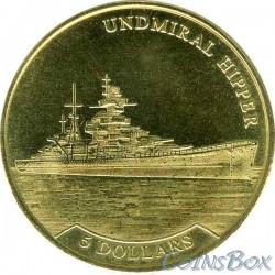 Nauru 5 dollars 2017 Admiral Hipper