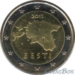Estonia 2 euros 2011