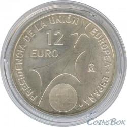 Испания 12 евро 2002 год Председательство в ЕС