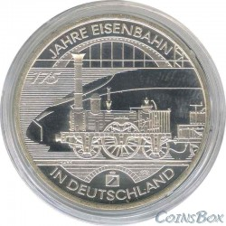 Germany 10 euro 2010 175 years of the railway in Germany