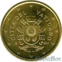 Ватикан 50 центов 2017 год