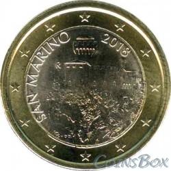 Сан-Марино 1 евро 2018 год