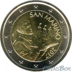 Сан-Марино 2 евро 2017 год