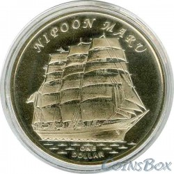 Острова Гилберта 1 доллар 2018 Корабль Ниппон Мару