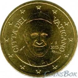 Vatican 50 cents 2015