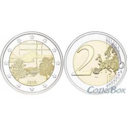 Финляндия 2 евро 2018 год Финская сауна