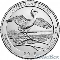 25 центов 2018 44-й Национальное побережье острова Кумберленд