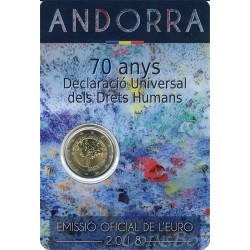 Andorra 2 Euro 2018 70th Anniversary of the Universal Declaration of Human Rights