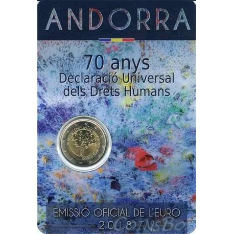 Андорра 2 евро 2018  70 лет Всеобщей декларации прав человека
