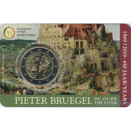 Бельгия 2 евро 2019 год. 450 лет со дня смерти Питера Брейгеля Старшего (Belgie)