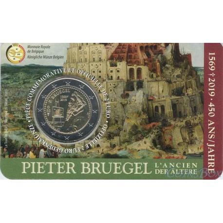 Бельгия 2 евро 2019 год. 450 лет со дня смерти Питера Брейгеля Старшего (Belgique)