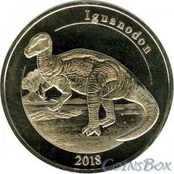 Остров Майотта 1 франк Игуанодон 2018