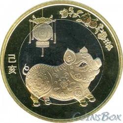 10 юаней 2019 Свинья