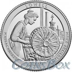 25 центов 2019 46-й Национальный исторический парк Лоуэлл
