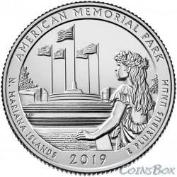 25 центов 2019 47-й Американский мемориальный парк