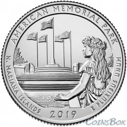 25 cents 2019 47th American Memorial Park