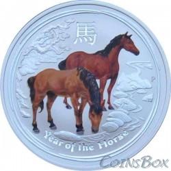 1 Доллар 2014 год. Лошадь цветная