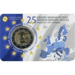 Бельгия 2 евро 2019 год. 25 лет Европейскому Валютному Институту (Belgie)