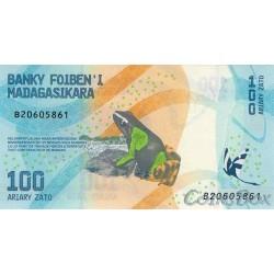 Banknote of Madagascar 100 Ariari 2017