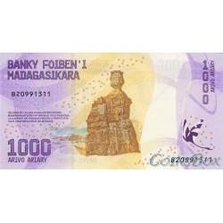 Banknote of Madagascar 1000 Ariari 2017