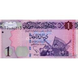 Banknote Libya 1 dinar 2013
