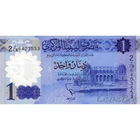 Banknote Libya 1 dinar 2019