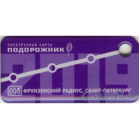 Travel card keychain Plantain. Frunze radius 2019