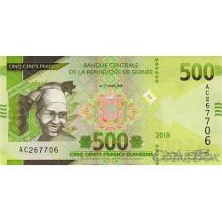 Banknote Guinea 500 francs 2018