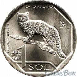 Перу 1 соль 2019 Андская кошка