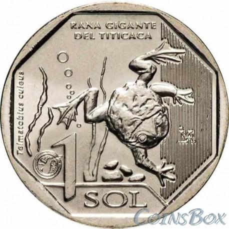 Перу 1 соль 2019 Водяная лягушка Титикака
